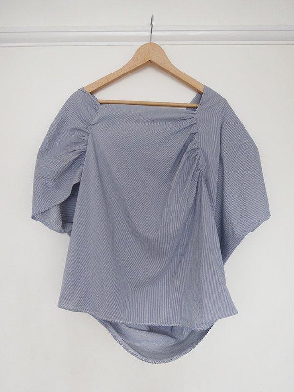 drape drape blouse_hanging_ back