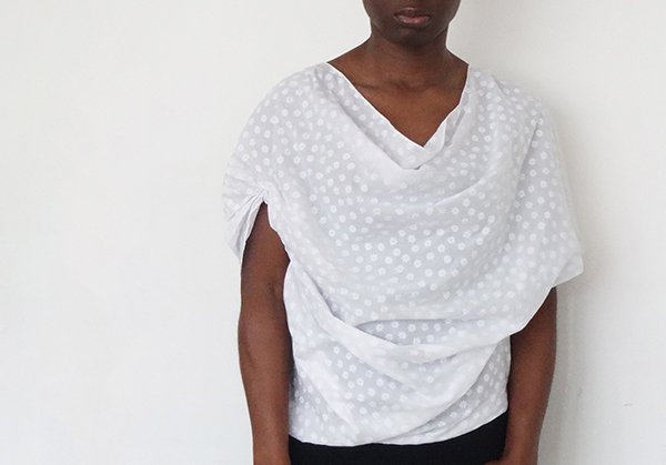 drape drape blouse_white