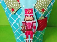 Making a fabric gift bag vor men (with free pattern)