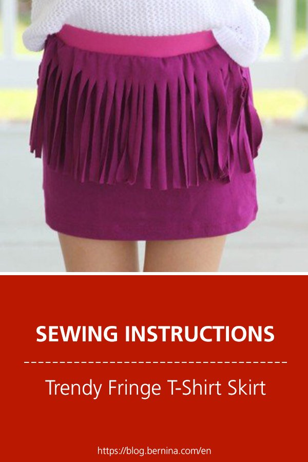 Free sewing instructions: How to Sew a Trendy Fringe T-Shirt Skirt