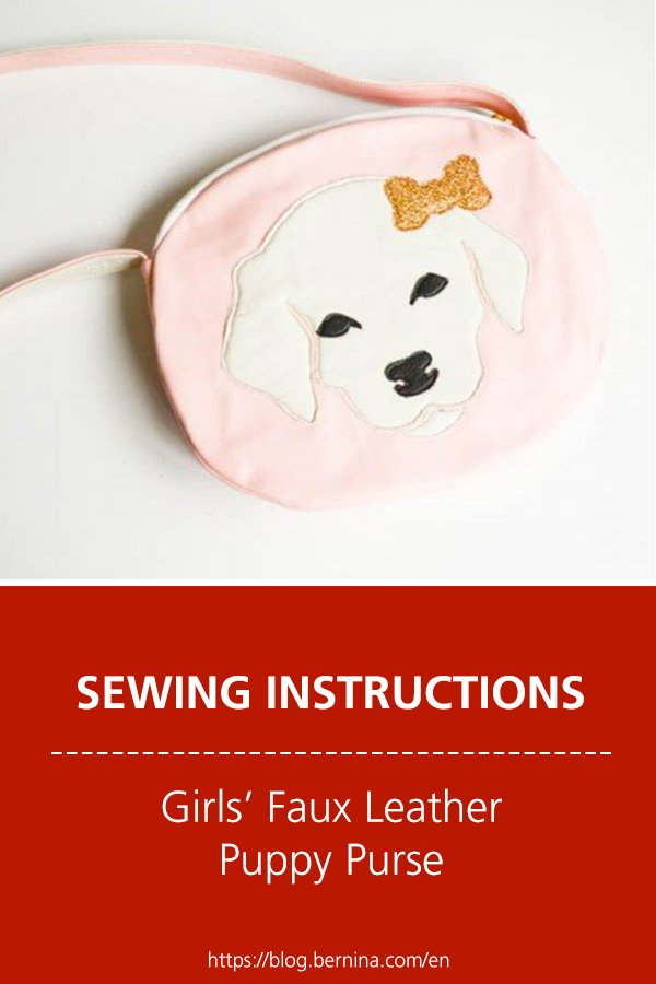 Free sewing instructions: Girls' Faux Leather Puppy Purse