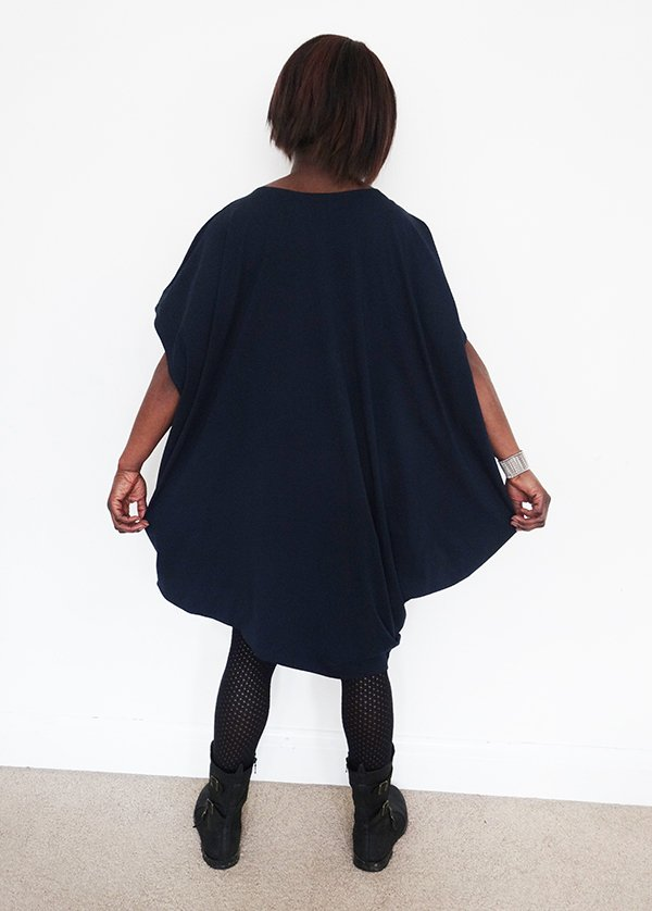 Navy drape dress8_Nosh fabric_Needle and Ted