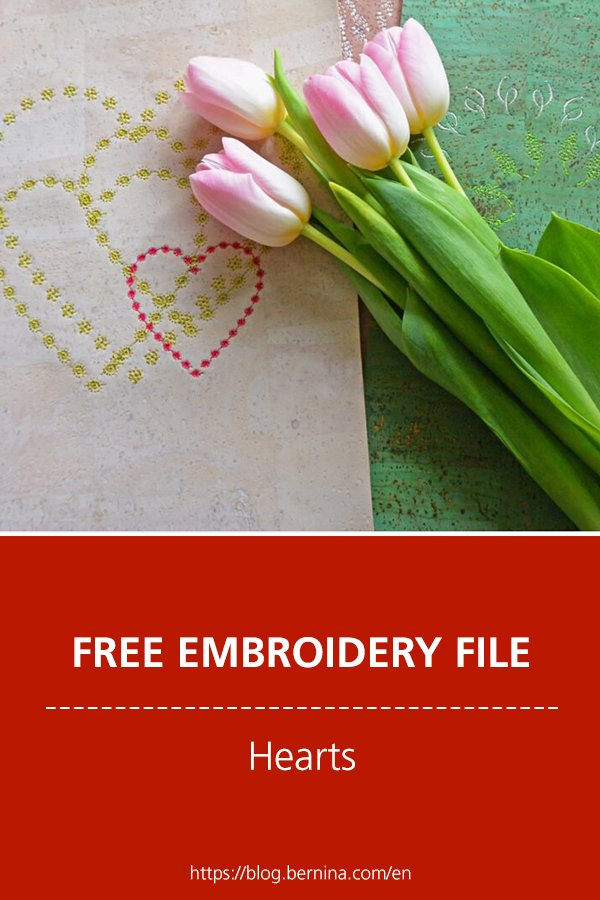 Free embroidery pattern: Hearts