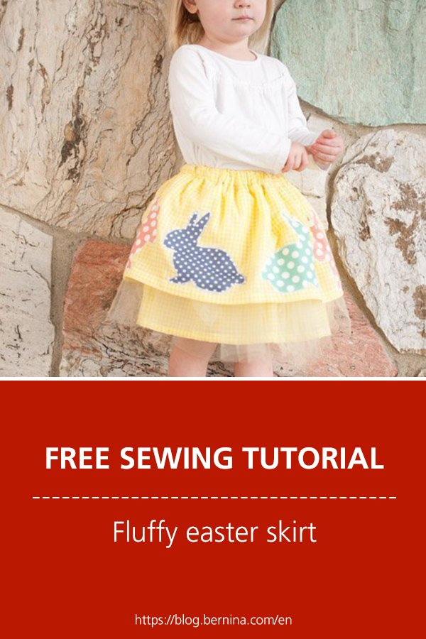 Free sewing pattern & instructions: Fluffy easter skirt for kids