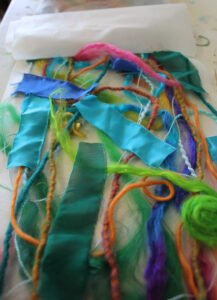 sandwiching with water soluble fabric