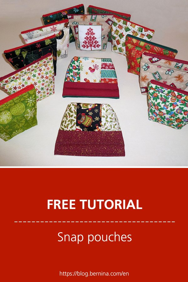 Free sewing tutorial: Snap pouches