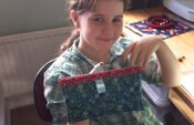 Caitlyn with finished snap pencil case