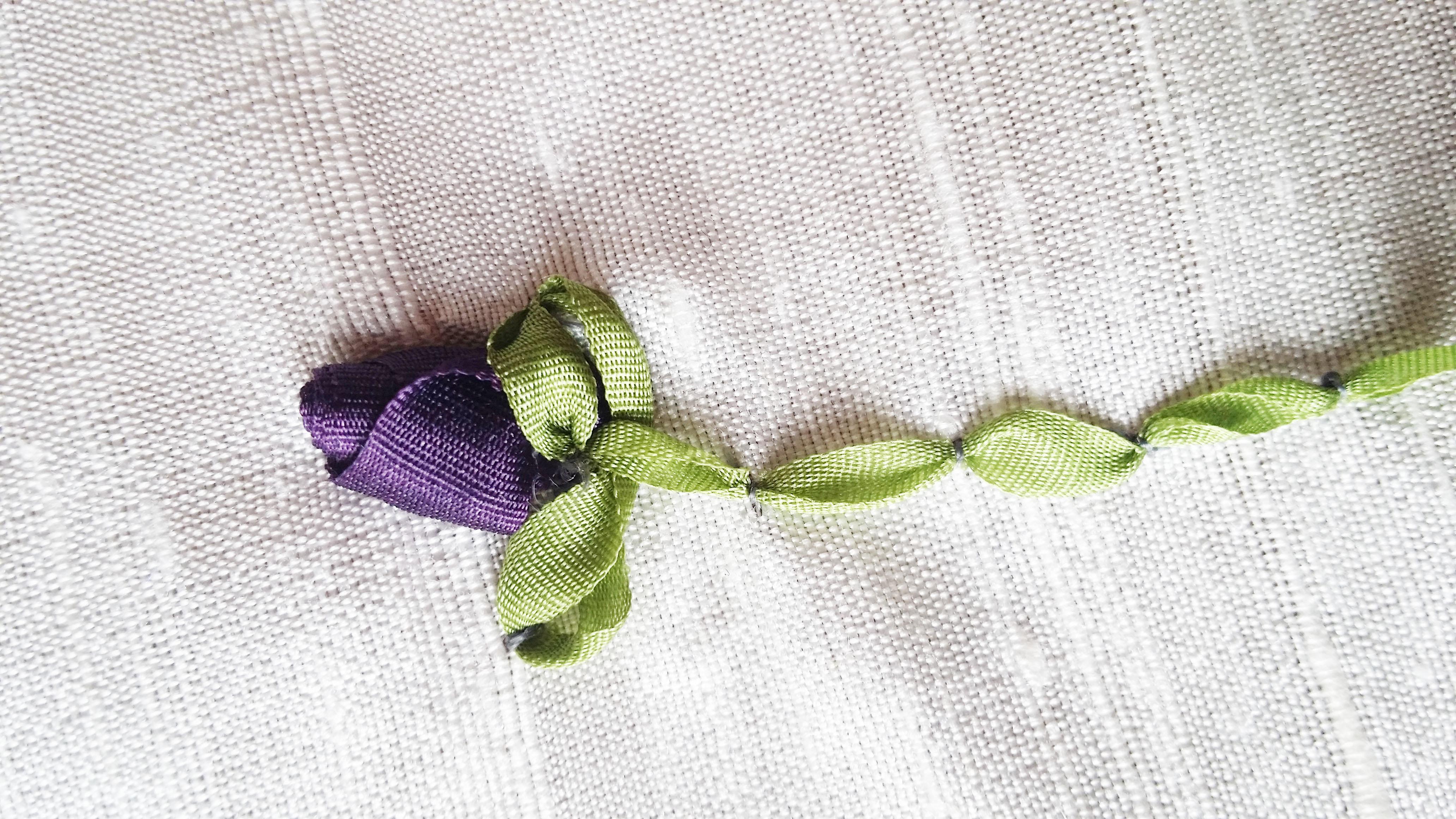 Silk Ribbon Roses Tutorial Bernina Blog