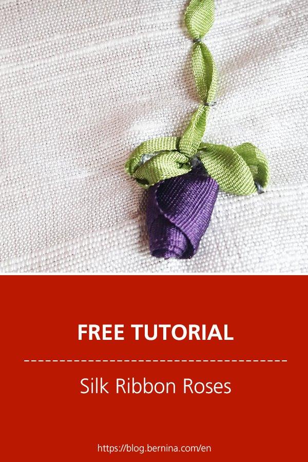 Free sewing instructions: Silk Ribbon Roses