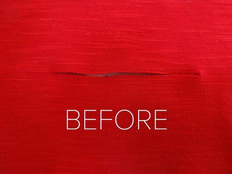 Repairing a hole with your Bernina 350 » BERNINA Blog