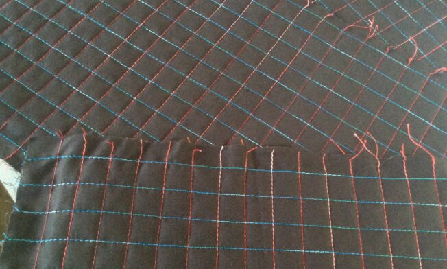 Love simple grid quilting!