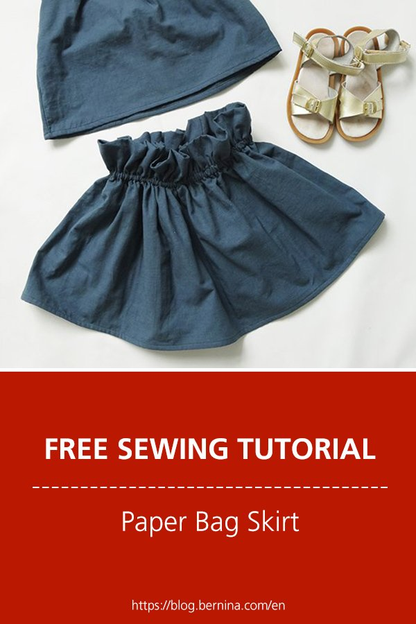 Free sewing instructions: How to make a Paper Bag Skirt