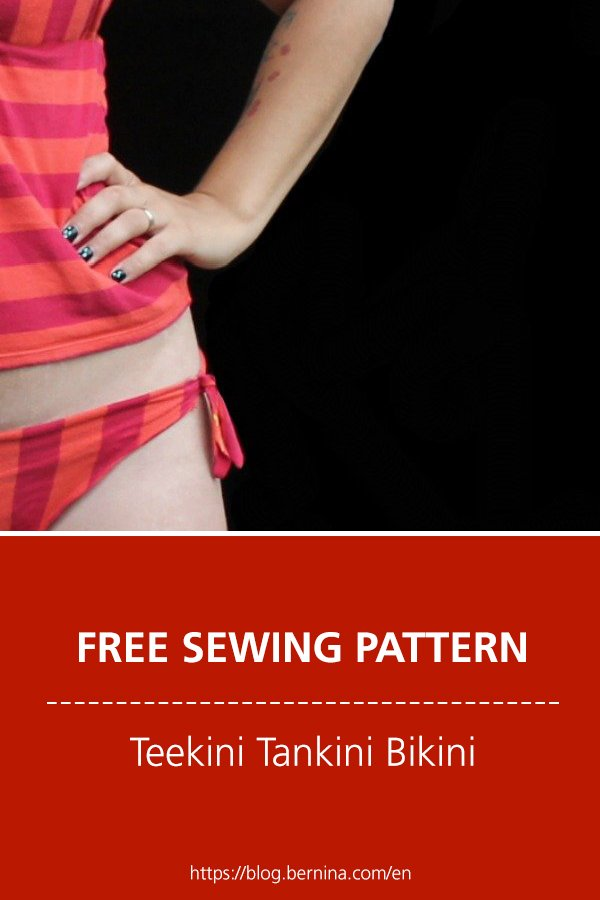 Free sewing pattern & instructions: Teekini Tankini Bikini