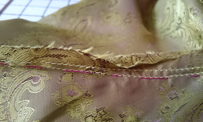 double row of stitching around the arm-hole (step )