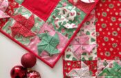 Christmas Spin Table Runners by Sharon at Lilabelle Lane Creations.