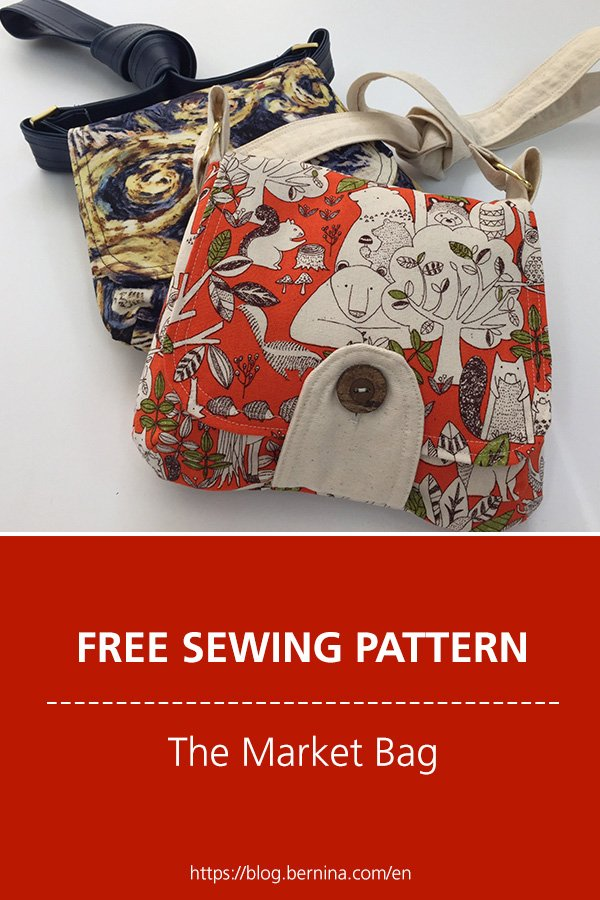 Free sewing pattern & instructions: The Market Bag