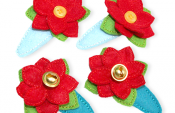 How to make beautiful hair clips from felt scraps