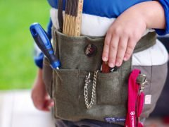 How to make a practical tool belt for young handymen