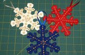 How to make embroidered snowflake pendants (with free template)