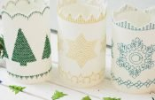 How to make beautiful embroidered candle covers (with free templates)