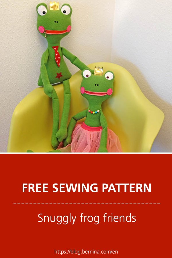 Free sewing pattern & instructions: Snuggly frog friends