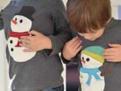 Sewing a snowman application (with free template)