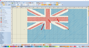 Bernina V8 Digitizing Software Australian Flag 10