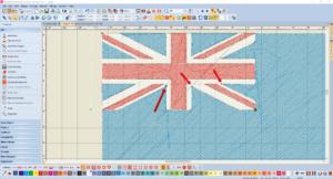 Bernina V8 Digitizing Software Australian Flag 10