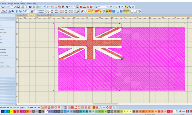 Bernina V8 Digitizing Software Australian Flag 11