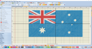 Bernina V8 Digitizing Software Australian Flag 12