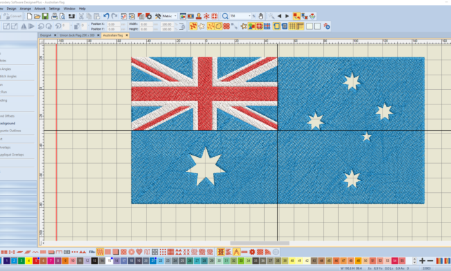 Bernina V8 Digitizing Software Australian Flag 12