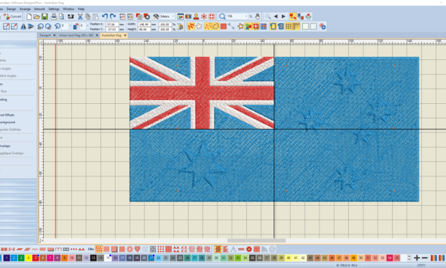 Bernina V8 Digitizing Software Australian Flag 13