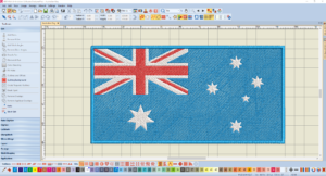 Bernina V8 Digitizing Software Australian Flag 14