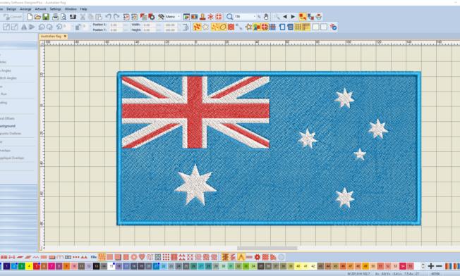 Bernina V8 Digitizing Software Australian Flag 14