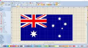 Bernina V8 Digitizing Software Australian Flag 2