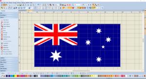 Bernina V8 Digitizing Software Australian Flag 2