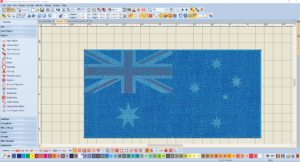 Bernina V8 Digitizing Software Australian Flag 4
