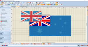 Bernina V8 Digitizing Software Australian Flag 5