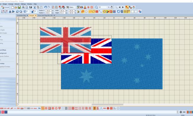Bernina V8 Digitizing Software Australian Flag 5