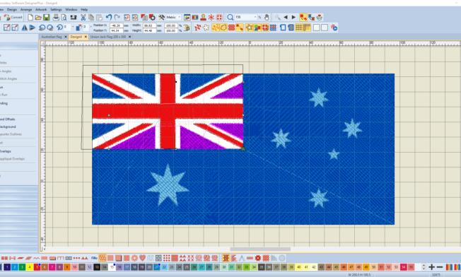 Bernina V8 Digitizing Software Australian Flag 6