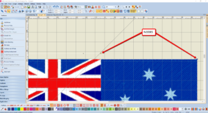 Bernina V8 Digitizing Software Australian Flag 7