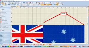 Bernina V8 Digitizing Software Australian Flag 7