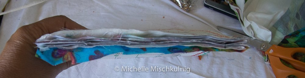 stitching the pages