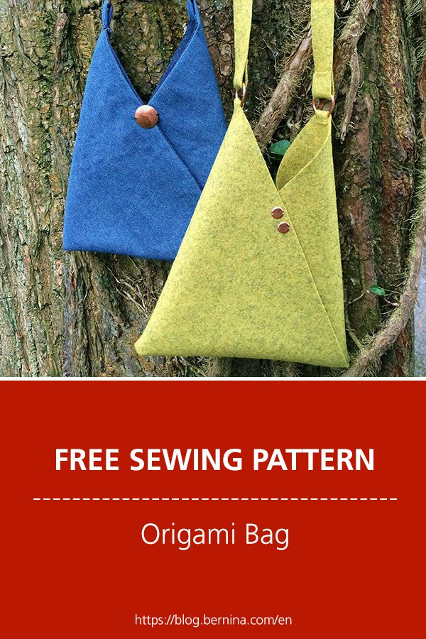 Free sewing pattern & instructions: Origami Bag