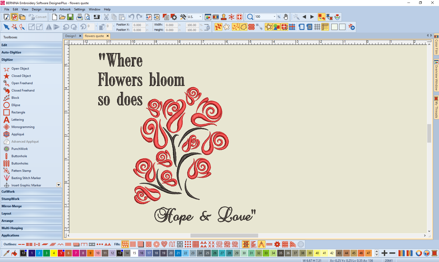 Fill Your House With Inspirational Quotes With Bernina Embroidery Software Designer Plus V8 Bernina Blog