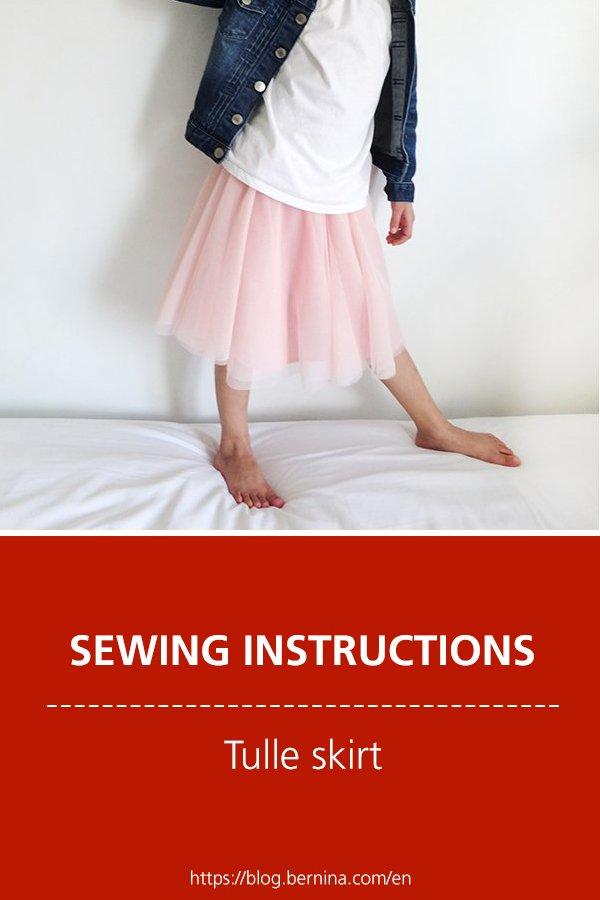 Free sewing instructions: Tulle skirt
