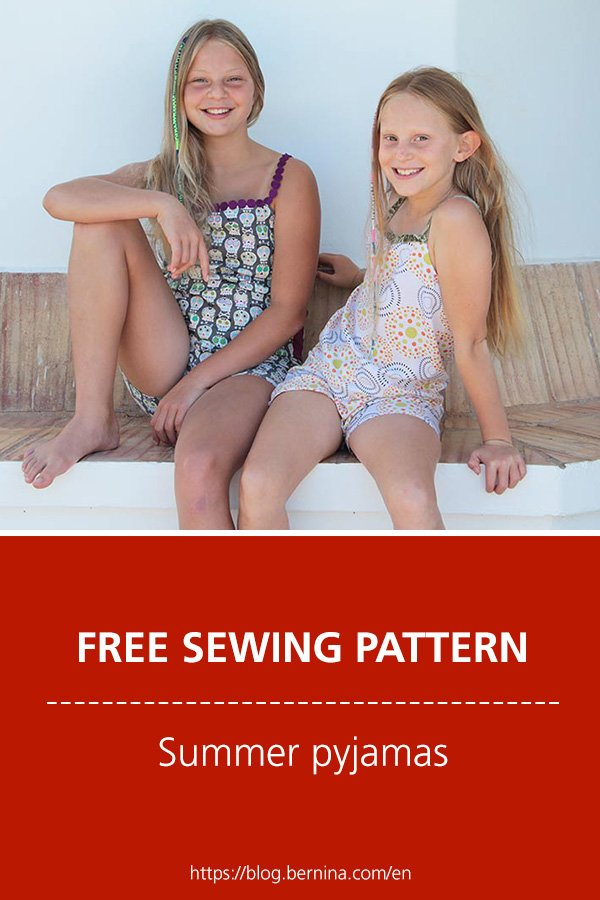 Free sewing pattern & instructions: Summer pyjamas for girls