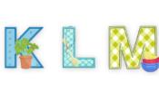 K,L,M cooking alphabet