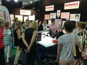 Joy Harvey Bernina Lou Robertson brisbane craft and quilt fair 2017