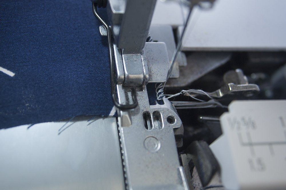 How to sew a neat rolled hem